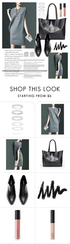 """""""OOTD - Gray Dress"""" by by-jwp ❤ liked on Polyvore featuring Belk Silverworks, Bare Escentuals, NARS Cosmetics and Kenneth Jay Lane"""