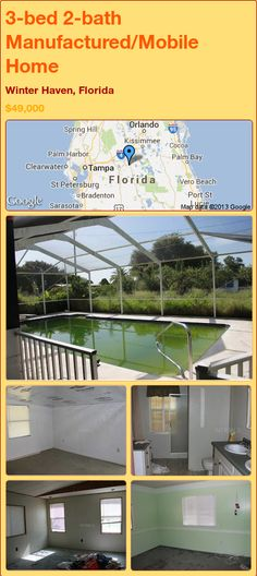 3-bed 2-bath Manufactured/Mobile Home in Winter Haven, Florida ►$49,000 #PropertyForSale #RealEstate #Florida http://florida-magic.com/properties/15556-manufactured-mobile-home-for-sale-in-winter-haven-florida-with-3-bedroom-2-bathroom