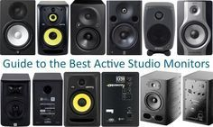 These active studio monitors have all been rated by Gearank as the best that are currently available for less than $1,000.