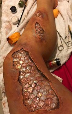 Mermaid leg Halloween special effects make up