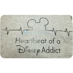 Heartbeat of a Disney Addict T-Shirt Mouse Ears Heartbeat ($18) ❤ liked on Polyvore featuring tops, t-shirts, red, women's clothing, tee-shirt, red short sleeve shirt, heavy t shirts, glitter t shirts and t shirt