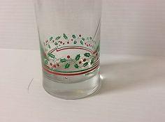 Arbys 1987 Christmas Glass Tumbler Collection Holiday Glasses