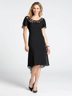Bias Cut Crepe Cutout Dress Short Sleeve Dresses, Dresses With Sleeves, Cutout Dress, Plus Size Fashion, Outfits, Style, Latest Fashion, Swag, Suits