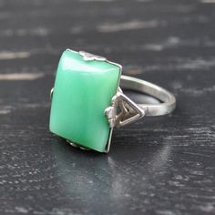 Natural Jade Ring by Astins on Etsy, $95.00 Jade Empire, Ring Necklace, Ring Bracelet, Jade Jewelry, Women Jewelry, Jewelry Box, Jewelery, Pearl And Diamond Earrings, Jade Ring