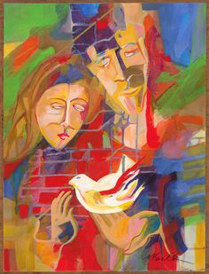 """Sacred Trinity"", acrylic painting by Mary Karlton"