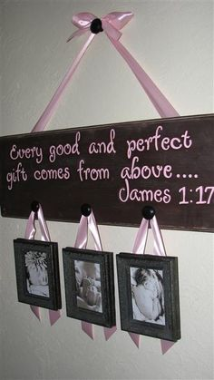 Bible verse when it comes to babies. What a cute way to incorporate the verse in with precious photos of your new little one. This would look perfect over the crib or maybe the dresser. Love everything about this!