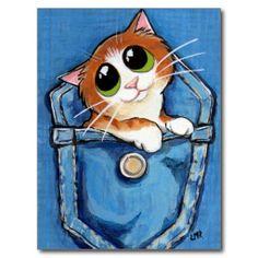 Anime Ginger Kitten in Pocket