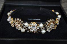 Authentic New Women's DOLCE & GABBANA RARE Runway Luxury Coin Hairband #DolceGabbana #Headband