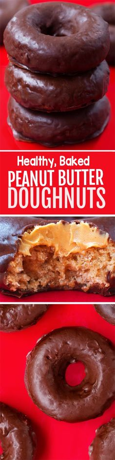 Healthy BAKED Peanut Butter Donuts, SO GOOD!