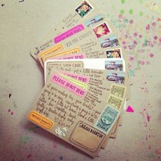 Send your BFFL some snail mail and tbt to the days when passing notes was basically a text message. via paperedthoughts: bff snail mail. Pen Pal Letters, Pocket Letters, Cute Letters, Pretty Letters, Mail Design, Mail Art Envelopes, Fancy Envelopes, Addressing Envelopes, Diy Postcard