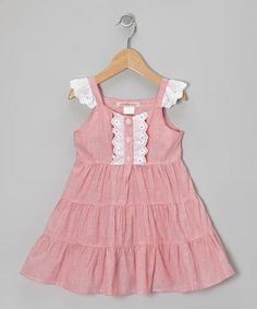 Take a look at this Pink Eyelet Ruffle Tiered Dress - Toddler & Girls by Paulinie on #zulily today!