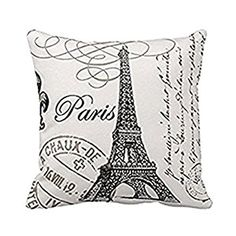 Cheap cushion cover, Buy Quality cushion cover pattern directly from China pattern cushion covers Suppliers: Cushion Cover Paris Tower Pattern Pillow Case Sofa Waist Vintage Throw Cushion Cover Home Decoration Pillow Cojines Sofa Decorative Pillow Cases, Throw Pillow Cases, Pillow Covers, Cushion Covers, Cushion Pillow, Vintage Paris, Retro Vintage, Vintage Designs, Throw Cushions
