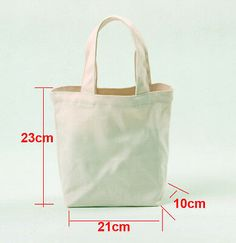 This is plain white canvas bag for DIY. DIY Small Canvas handbag . Product ranges: various blank canvas bags,pouches,cases. Lining:no lining. Size:23cm(width) x 21cm(height) x 10cm(thickness).