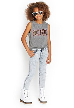 AC/DC Muscle Tee (Kids) | FOREVER21 girls - 2000120513