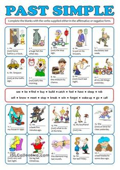 Students can practise affirmative and negative sentences. Students will have to complete the sentences accordingly using the verbs supplied in the box. Pictures make the meaning clear. As usual fully editable. Greyscale and key are included. - ESL worksheets
