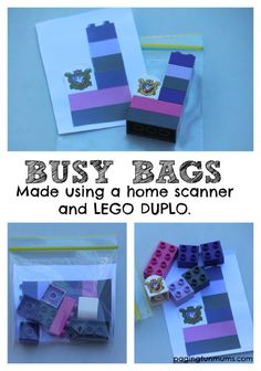 LEGO DUPLO Busy Bags! Perfect on-the-go activity!