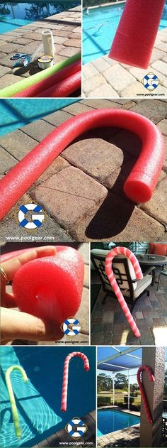 How to make Pool Noodle Candy Canes from @PoolGear Plus