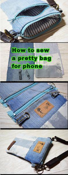 Simple Bag For Phone Tutorial…