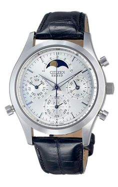 The world's first analogue quartz watch with grand complication. Functions included perpetual calendar, moon phase, chronograph and minute repeater