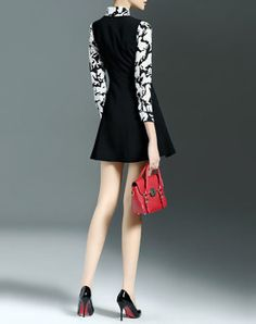 Summer 3/4 Sleeve Casual Printed Floral Two Piece Mini Dress