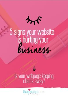 5 signs your website is hurting your business. Website mistakes you might be making that are keeping clients + opportunities away! Read on to find out Digital Marketing Logo, Content Marketing, Online Marketing, Marketing Program, Mobile Marketing, Media Marketing, Home Based Business, Business Tips, Business Website