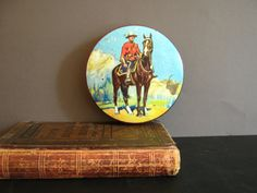 Vintage Tin Box Thornes Toffee Canadian Mountie, Canada