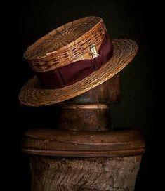 Nick Fouquet Hatmaker- custom made hats in Venice, CA. Mens Dress Hats, Men Dress, Boater Hat Mens, Mens Fashion Blog, Fashion Hats, Fashion Scarves, 1950s Fashion, Fall Fashion, Vintage Fashion