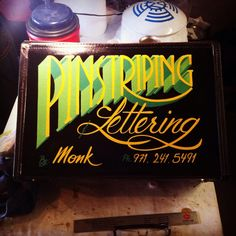 Pinstriping & Lettering