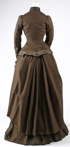 Ensemble Redfern (1847–1940) Date: 1887–89 Culture: French Medium: wool, silk, cotton, metallic thread