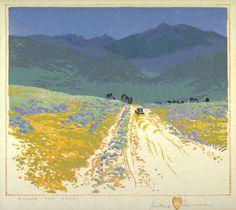 Gustave Baumann, Bound for Taos (1930)