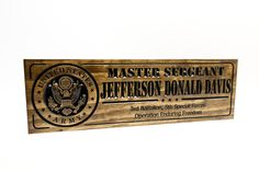 US Military plaques and Signs Army & Navy, Us Army, Military Signs, Marine Military, Deployment Gifts, Veterans Day Gifts, Army Gifts, Personalized Wood Signs, Farewell Gifts