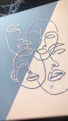 Easy Canvas Art, Mini Canvas Art, Diy Canvas, Canvas Painting Tutorials, Diy Painting, Pencil Art Drawings, Diy Wall Art, Embroidery Art, Mandala