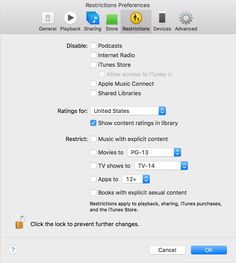 Use Restrictions to block or limit certain features and services in iTunes on your computer, including access to explicit content in the iTunes Store.