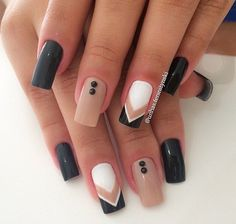 Gel Nail Designs You Should Try Out – Your Beautiful Nails Gel Uv Nails, Tan Nails, Shellac, White Nails, Love Nails, Hair And Nails, Acrylic Nails, Acrylic Art, Bling Nails