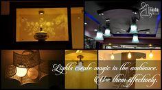 Lights create magic in the ambiance. Share the post if you agree! #InteriorDesigner #VastuConsultant #Indore #ShriVastuKrit