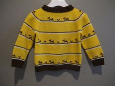 Vintage knit Broadway dog sweater