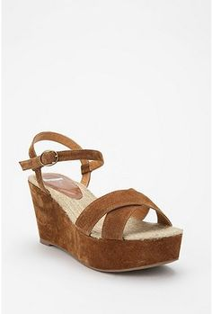 Kimchi Blue Crisscross Suede Wedge  $59.00