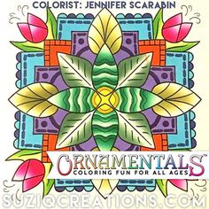 We got time for one more tonight! 😍 Enjoy this  #beautifulcoloring by Jennifer Scarabin from #minimentals #onthego #coloringbook #ornamentalscoloring #chameleonpens #coloristspotlight #dailydoseofcolor