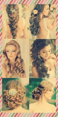 6 Long Curly Wedding Hairstyle