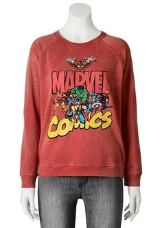 Marvel Comics Burnout Sweatshirt - Juniors #Kohls