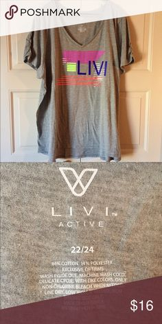 🆕 Lane Bryant Livi Active Tee Lane Bryant Livi Activewear Tee.  Size 22/24.  NWOT Lane Bryant Tops Tees - Short Sleeve