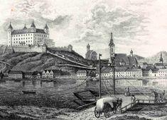 Bratislava v roku 1735 Bratislava, Old City, Old Pictures, Paris Skyline, Taj Mahal, Times, Places, Painting, Travel