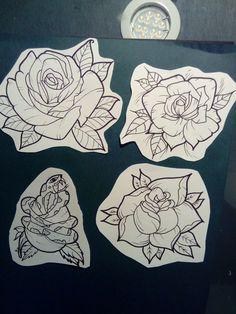 Flash rose tattoo