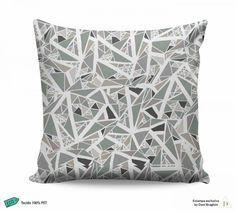 Almofada Abstrata - Mosaico em tons de cinza