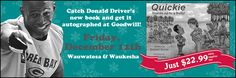Catch Donald Driver's new book, and get it autographed, at Goodwill on December 12!