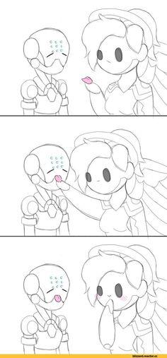 cute mercy genji overwatch