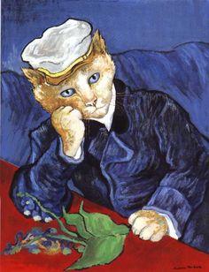 Aqui Só Entram Gatos: Gatos Retratados em Obras Famosas