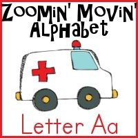 Free A is for Ambulance Printables: Zoomin Moving Alphabet
