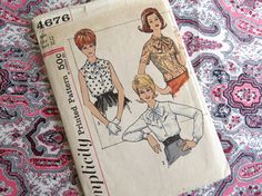 1960s Bow Blouse  Vintage Pattern Simplicity 4676  by ErikawithaK, $10.00