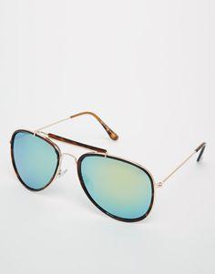 f986761d0f ASOS High Bar Aviator Sunglasses With Mirrored Lens at asos.com